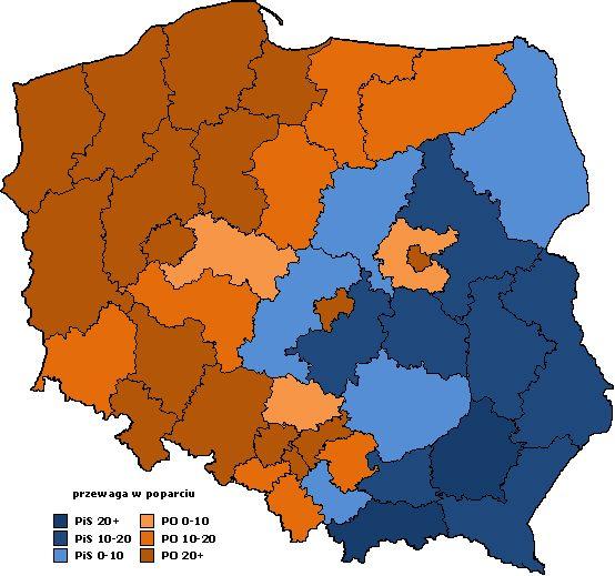 2011 przewaga w okręgach